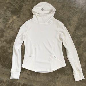 LuluLemon white hooded top